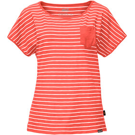 Jack Wolfskin Travel - T-shirt manches courtes Femme - rouge/blanc